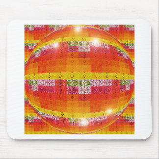 Orange Disco Ball Pattern Mouse Pad
