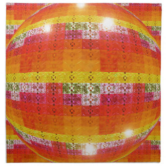 Orange Disco Ball Pattern Napkin