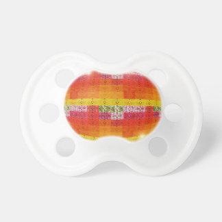Orange Disco Ball Pattern Pacifier