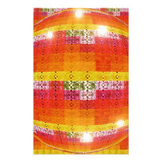 Orange Disco Ball Pattern Stationery