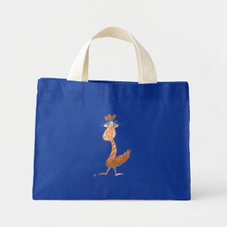 """Orange Dodo Bird"" Tiny Tote Bag"