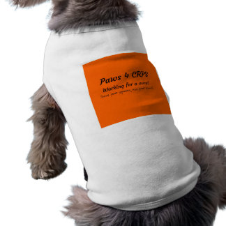 Orange dog shirt