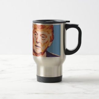 orange donald trump travel mug