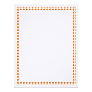 Orange Dot Frame Border Letterhead