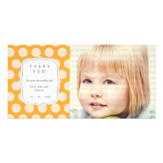 Orange Dots - Any Occasion Thank you Picture Card