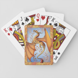 Orange Dragon of Autumn Nature Fantasy Art Playing Cards