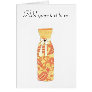 Orange Dress Card