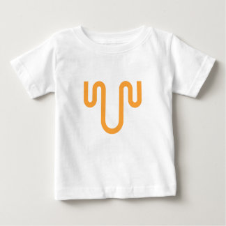 Orange Dripping Design Baby T-Shirt