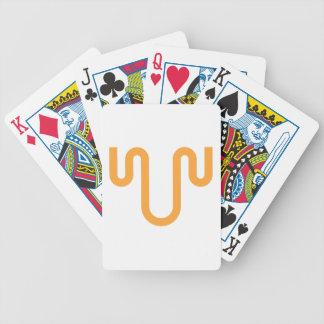 Orange Dripping Design Bicycle Playing Cards
