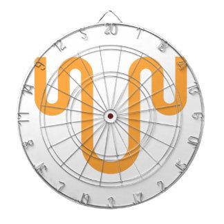Orange Dripping Design Dartboard
