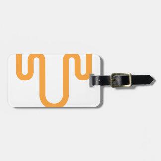 Orange Dripping Design Luggage Tag