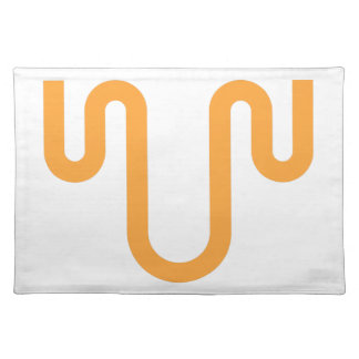 Orange Dripping Design Placemat