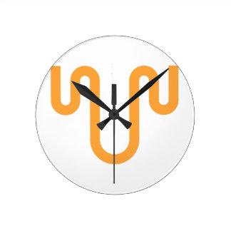 Orange Dripping Design Round Clock