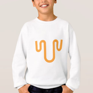 Orange Dripping Design Sweatshirt