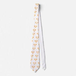Orange Dripping Design Tie