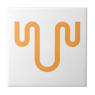 Orange Dripping Design Tile