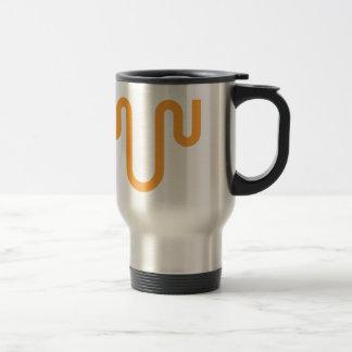Orange Dripping Design Travel Mug