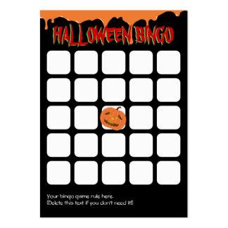 Orange Drips Pumpkin 5x5 Halloween Bingo Card Large Business Card