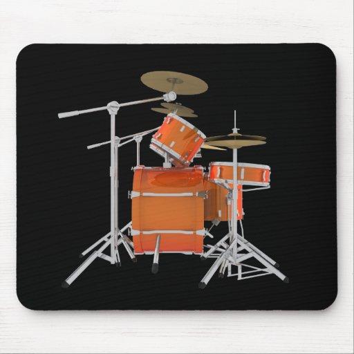 Orange Drum Kit: Mousepad