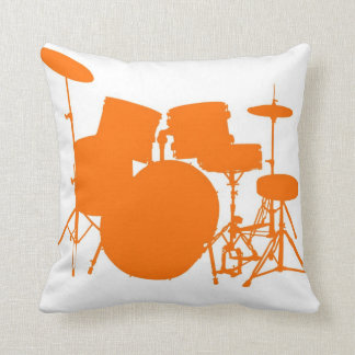 Orange drums throw pillow