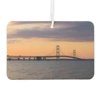 Orange Dusk Mackinac Bridge Air Freshener