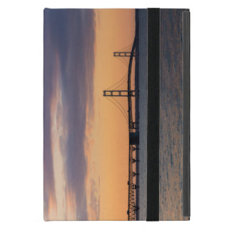 Orange Dusk Mackinac Bridge iPad Mini Cover