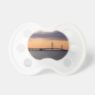 Orange Dusk Mackinac Bridge Pacifier
