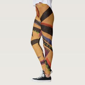Orange Elemental Design Leggings