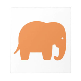 orange elephant notepad