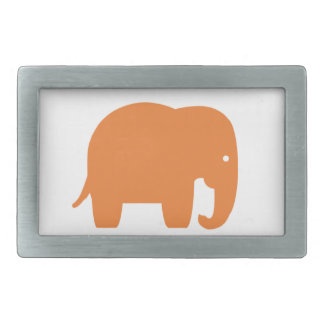 orange elephant rectangular belt buckle