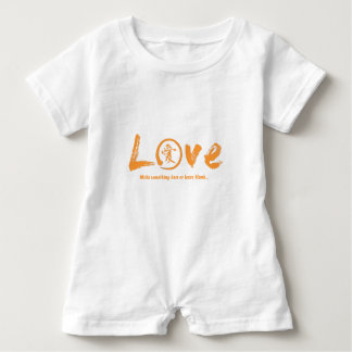 Orange enso zen circle, Japanese symbol for love Baby Romper
