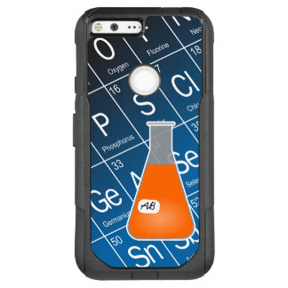 Orange Erlenmeyer Flask (with Initials) Chemistry OtterBox Commuter Google Pixel XL Case