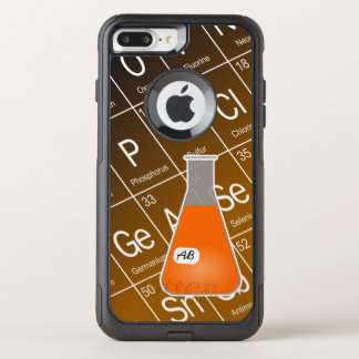 Orange Erlenmeyer Flask (with Initials) Chemistry OtterBox Commuter iPhone 7 Plus Case