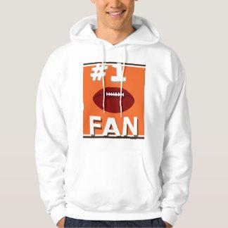 Orange et Brown de passioné du football #1 Sweat-shirts Avec Capuche