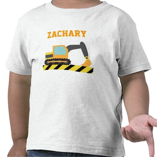 Orange Excavator, Construction Vehicle, For kids Tshirt