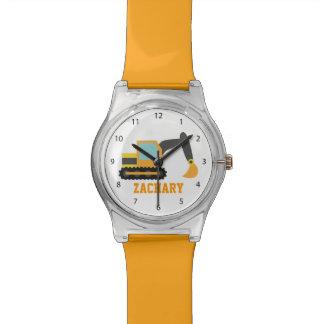 Orange Excavator, Construction Vehicle, For kids Watch
