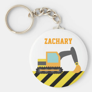 Orange Excavator, Construction Vehicles, for Kids Keychain