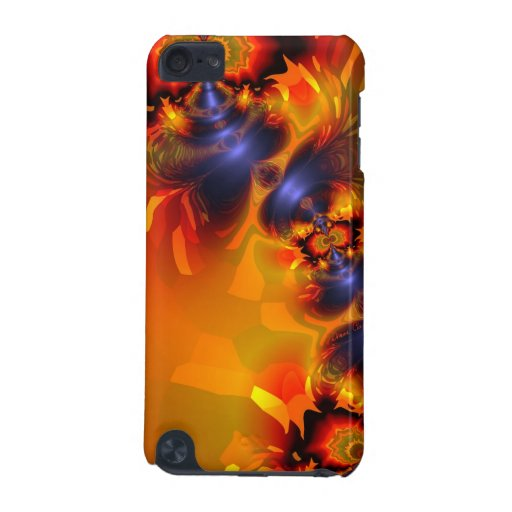 Orange Eyes Aglow, Abstract Fun Creature iPod Touch 5G Case