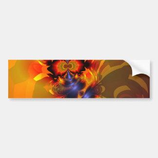 Orange Eyes Aglow – Gold & Violet Delight Bumper Sticker
