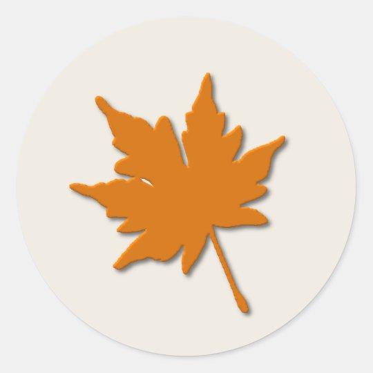Orange Fall Leaf Sticker