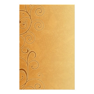 Orange Fall Swirls Stationery