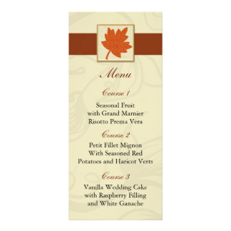 orange fall wedding menu