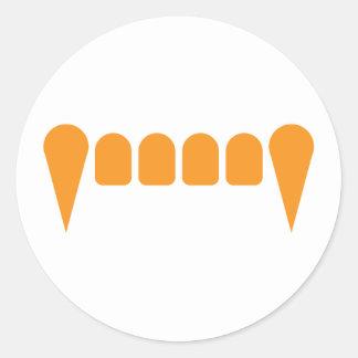 Orange Fangs Sticker