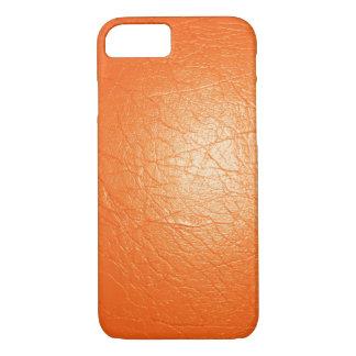 Orange Faux Leather iPhone 7 Case