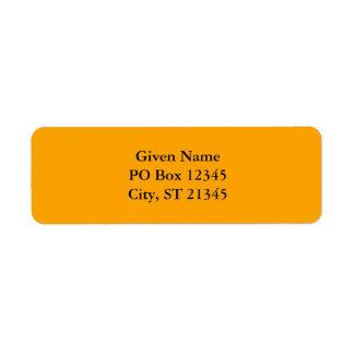 Orange FFA500 Return Address Label