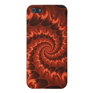 Orange Fiery Spiral iPhone 5/5S Covers