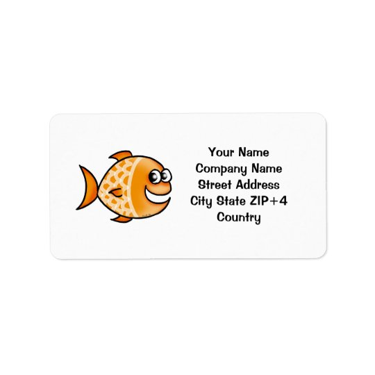 Orange fish return address