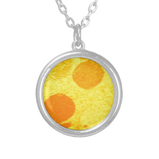 orange fish silver plated necklace