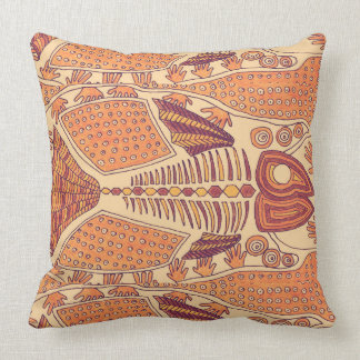 Orange Fish Throw Cushion