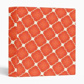 Orange Fishing Net Mosaic Tile Grid Pattern Gifts 3 Ring Binder